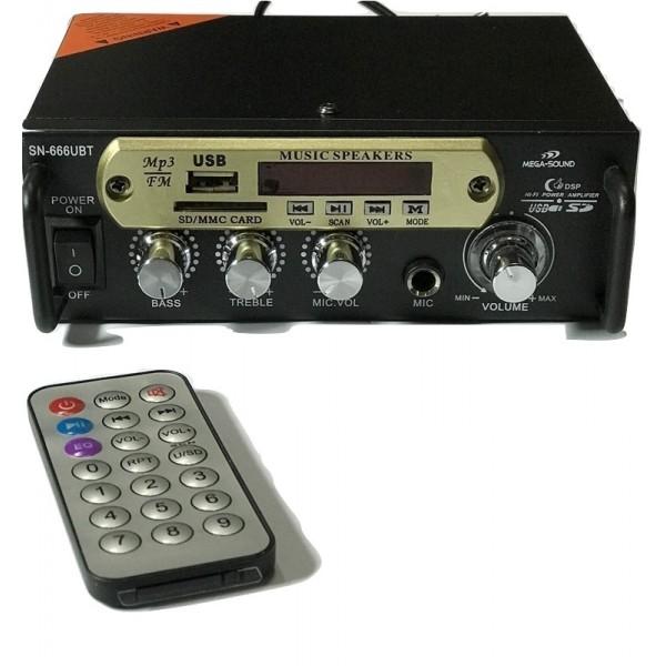 Mega Sound  2x140 W/Stereo Power Amplifier W/Bluetooth, Πανταζοπουλος Θανασης, Πανταζοπουλος Μεγαφωνα, Σολωμου,